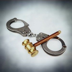 handcuffs gavel